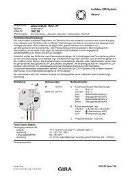 instabus EIB System Sensor Jalousieaktor 1fach UP 1047 00 ...