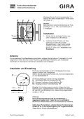 Funk-Universalsender Bestell-Nr.: 0521 00 Funktion Montage - Seite 2