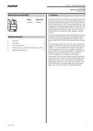 Minifunktionsmodul REG Inhaltsverzeichnis 1. Funktion