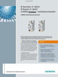 Siemens IP-Interface N 148/22 - Siemens Building Technologies