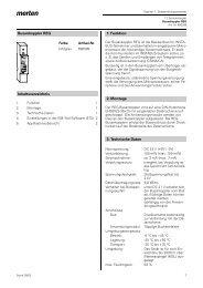 Busankoppler REG Inhaltsverzeichnis 1. Funktion 2. Montage 3 ...