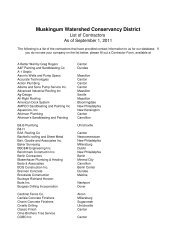 Current list of MWCD contractors - Muskingum Watershed ...