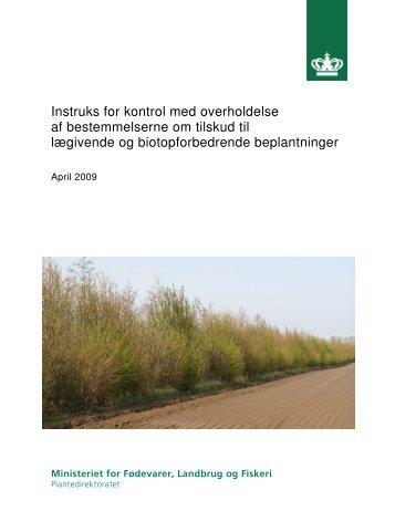 Instruks for kontrol med overholdelse af bestemmelserne om tilskud ...