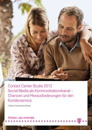 Contact Center Studie 2012 - Telekom