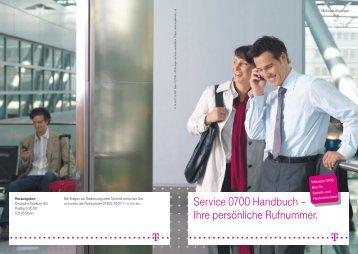 Service 0700 Handbuch – Ihre persönliche Rufnummer. - Telekom