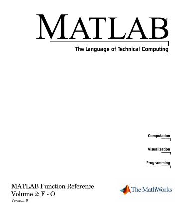 Matlab Function Reference Guide II Pdf