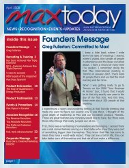 Founders Message - Max International Virtual Office