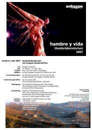 hambre y vida - Antagon theateraktion