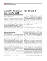 Academic Mentoring—How to Give It and How to Get It