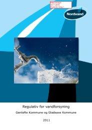 Regulativ for vandforsyning Gentofte - Gladsaxe Kommune