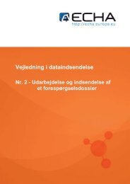 Vejledning i dataindsendelse - ECHA - Europa