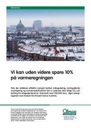 Vi kan uden videre spare 10% på varmeregningen - Clorius Controls