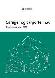 Garager og carporte m.v. - Byggepjecer