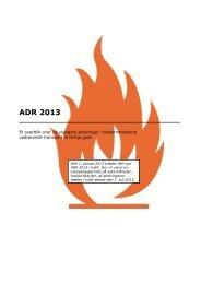ADR 2013 - et overblik over de vigtigste ændringer - ITD