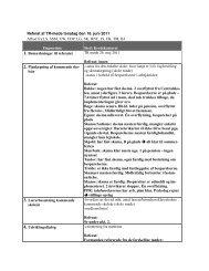 Referat af TR-møde torsdag den 16. juni 2011 Afbud fra:LS, SSM ...