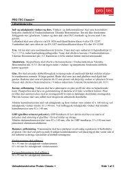 Udbudsbeskrivelse Protec Classic + Side 1 af 3 ... - PRO TEC Vinduer
