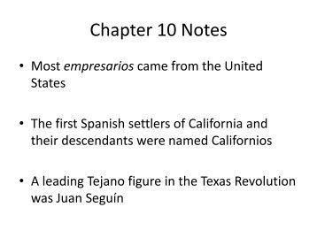 Chapter 10 notes - my CCSD