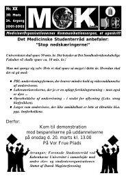 Kom til demonstration mod besparelserne på uddannelserne ... - MOK