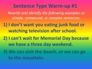 Sentence Types Warm-up #1 - my CCSD