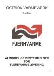 Almindelige bestemmelser for fjernvarmelevering - Østbirk Varmeværk