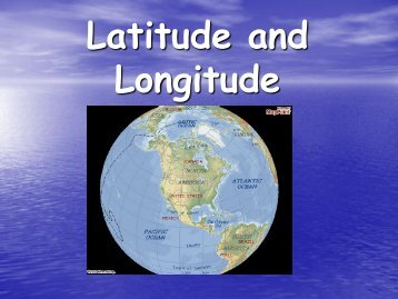 Overview of Latitude and Longitude - my CCSD
