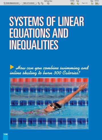 Systems of Linear Equations and Inequalities - my CCSD