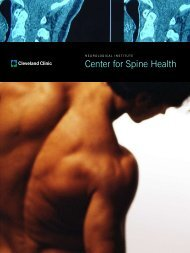 Center for Spine Health - Cleveland Clinic