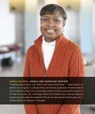 DOUBle lUNg TraNSplaNT reCipieNT - Cleveland Clinic