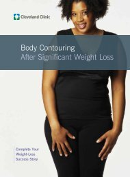 Body Contouring After Significant Weight Loss - Cleveland Clinic