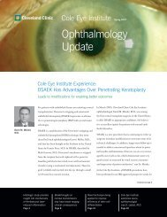 Ophthalmology Update - Cleveland Clinic