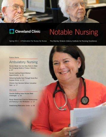 Notable Nursing - Cleveland Clinic
