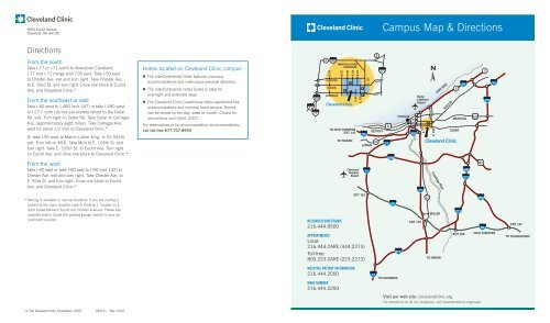Campus Map & Directions - Cleveland Clinic