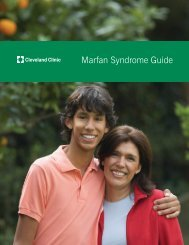 Marfan Syndrome Guide - Cleveland Clinic
