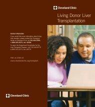 Living Donor Liver Transplantation - Cleveland Clinic