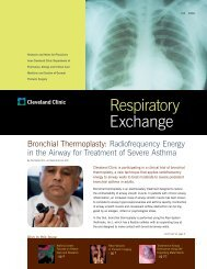 Respiratory Exchange 2006 - Cleveland Clinic