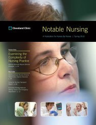 Notable Nursing - Cleveland Clinic