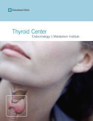 Thyroid Center - Cleveland Clinic