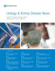 Urology & Kidney Disease News - Cleveland Clinic