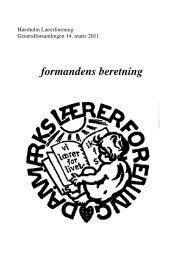Formandens beretning 2011 - Nyheder fra Danmarks Lærerforening