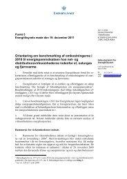 Orientering om benchmarking af omkostningerne i ... - Energitilsynet