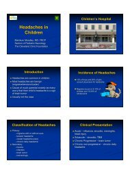Dr. Moodley: Headaches in Children - Cleveland Clinic