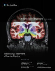 Neuroscience Pathways 2009 | 2010 Rethinking ... - Cleveland Clinic
