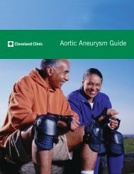Aortic Aneurysm Guide - Cleveland Clinic