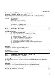 Referat 17.12.2010 bestyrelsesmøde - Vikingeskibsmuseet
