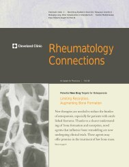 Rheumatology Connections - Cleveland Clinic