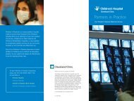 View our brochure - Cleveland Clinic