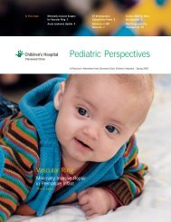 Pediatric Perspectives Spring 2007 - Cleveland Clinic