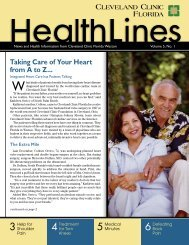 HealthLines Vol.5 No.1.indd - Cleveland Clinic