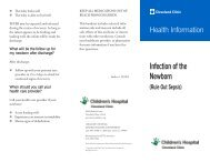 Infection Of The Newborn - Cleveland Clinic