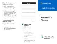Kawasaki's disease, 13457.qxp - Cleveland Clinic